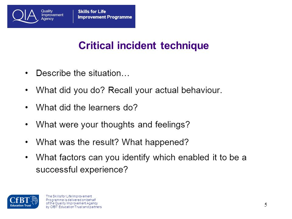 Critical incident technique