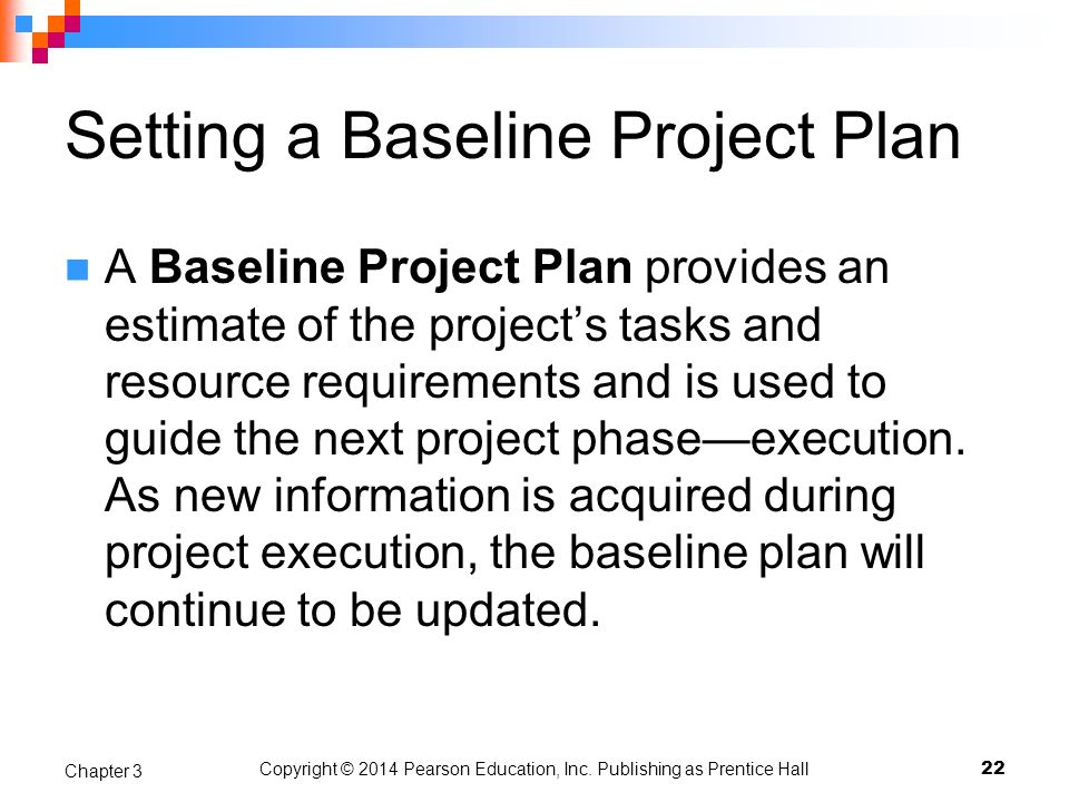 Setting a Baseline Project Plan