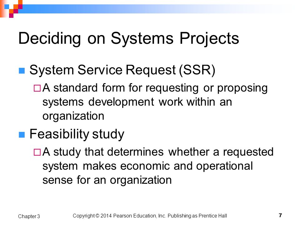 Deciding on Systems Projects