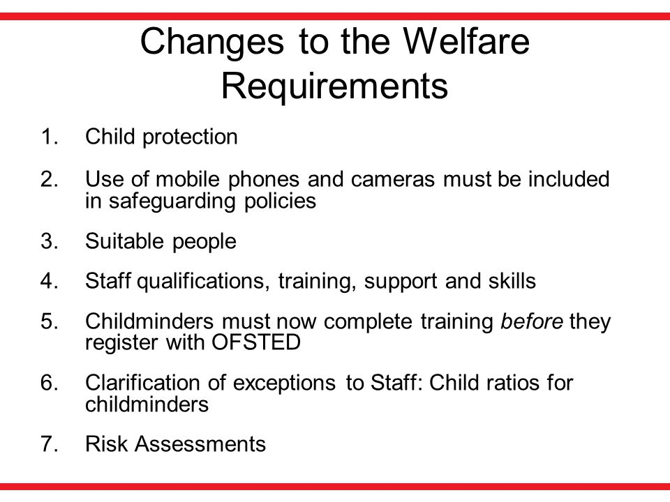 child welfare requirements