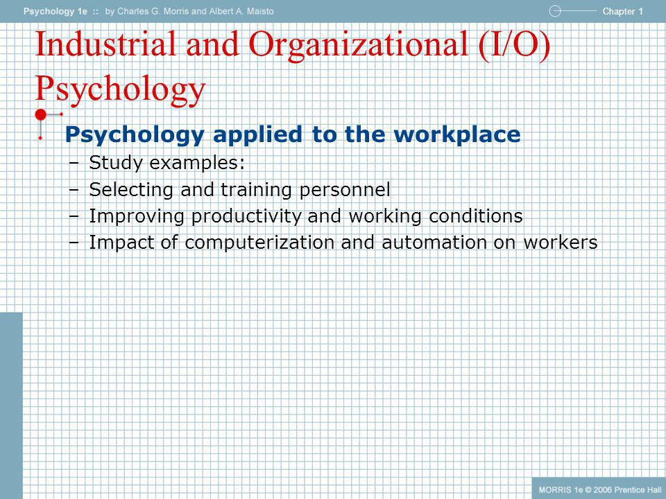 Industrial and Organizational (I/O) Psychology