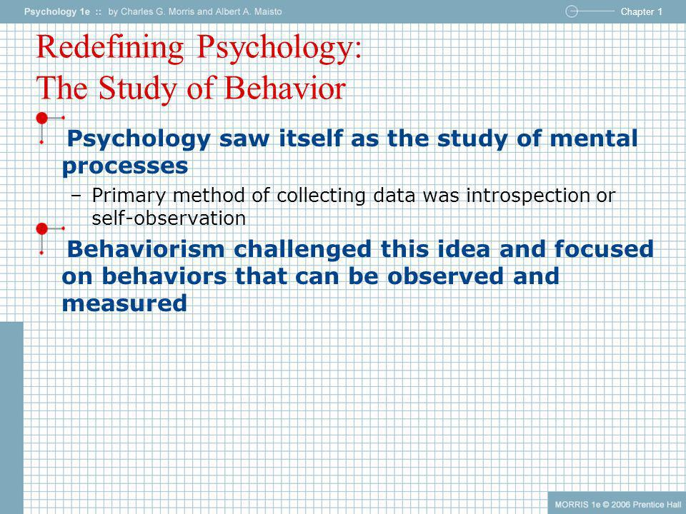 Redefining Psychology: The Study of Behavior