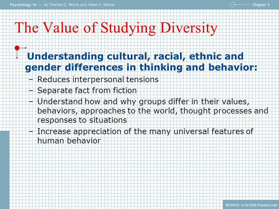 The Value of Studying Diversity