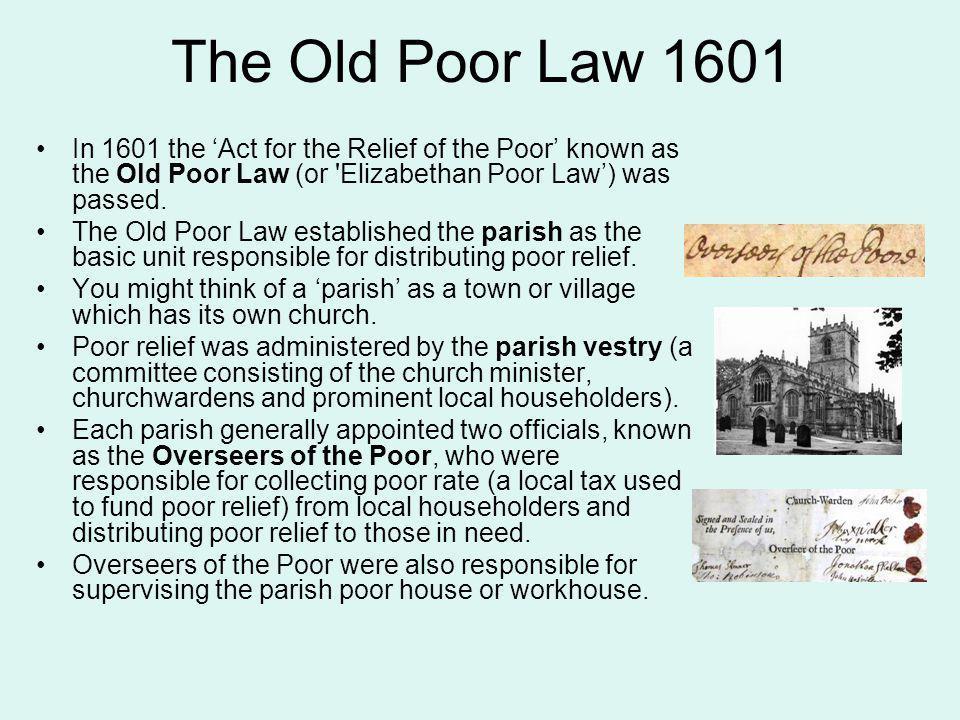history of elizabethan poor laws