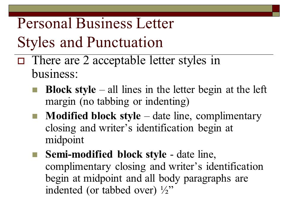 Personal Business Letters and Common documents - ppt download