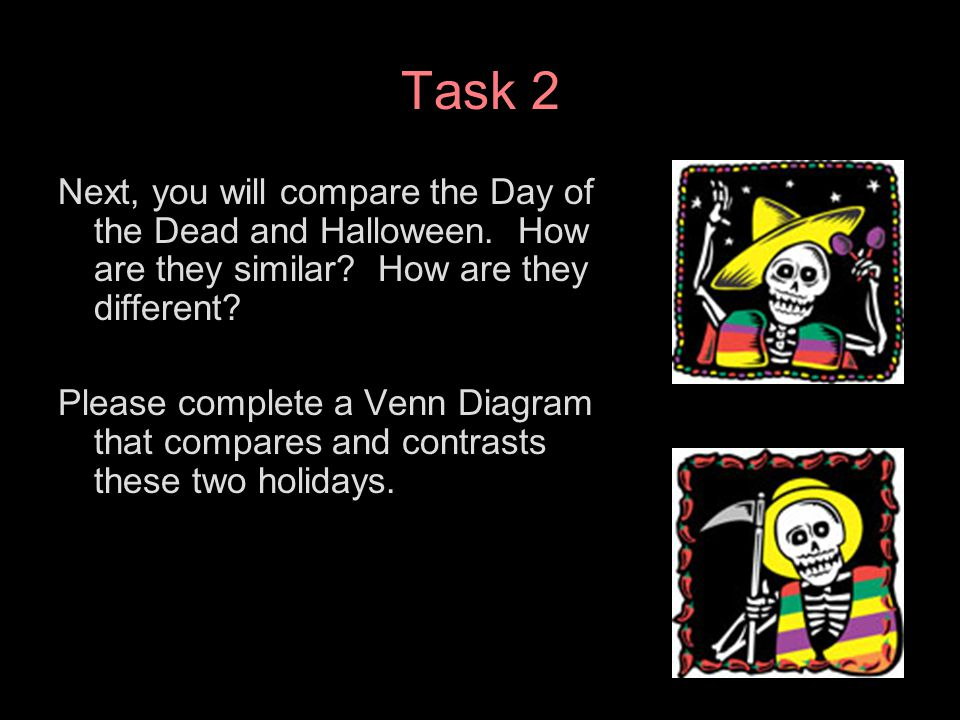 El da de los muertos a webquest ppt download task 2 next you will compare the day of the dead and halloween how ccuart