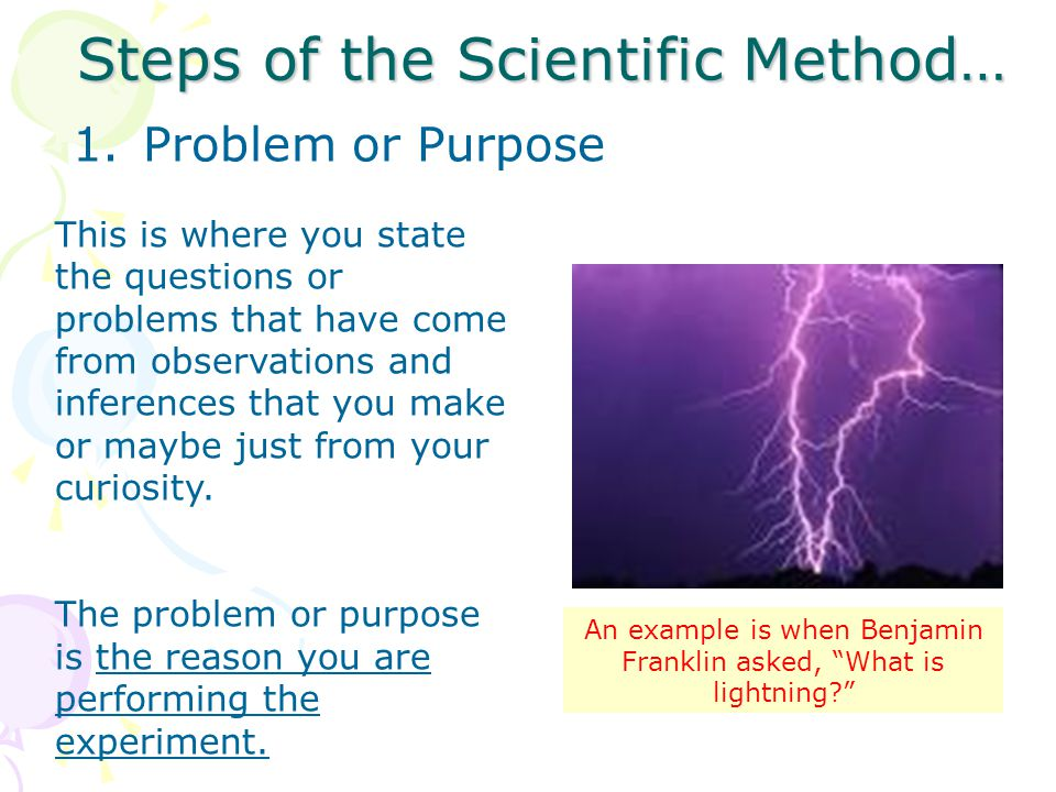 Steps of the Scientific Method…