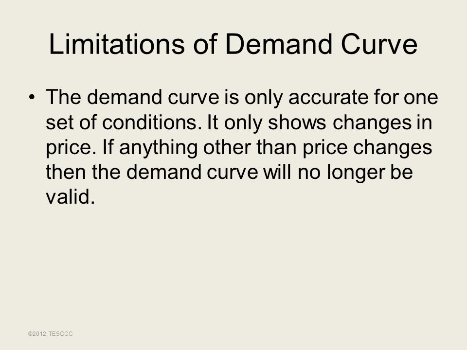 Limitations of Demand Curve