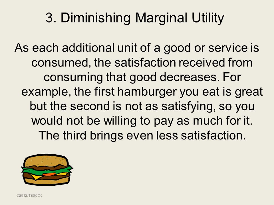 3. Diminishing Marginal Utility