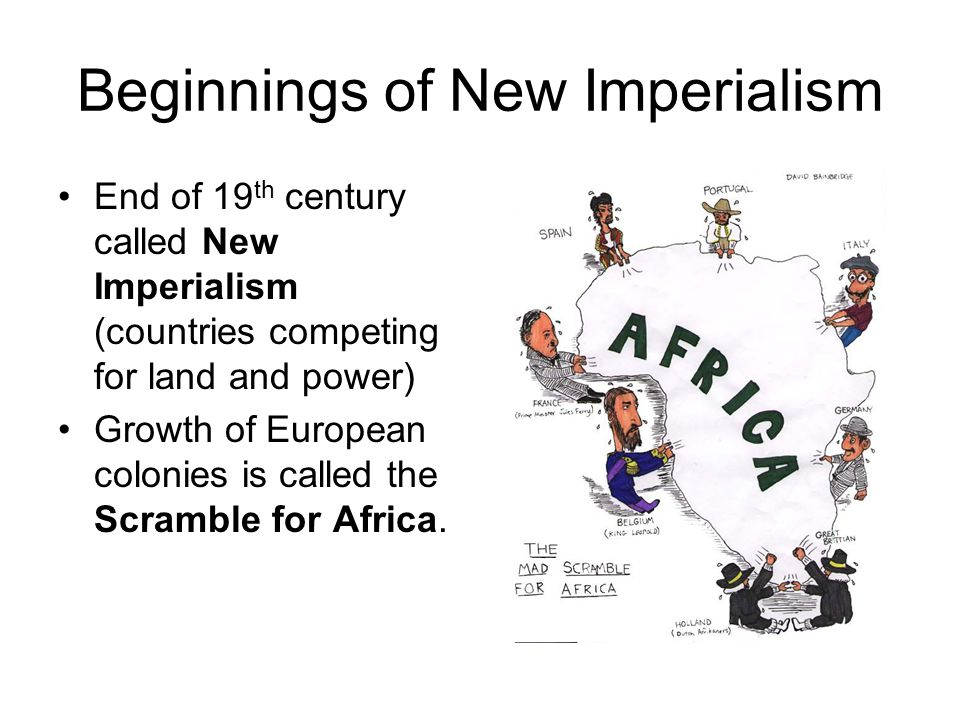 Beginnings of New Imperialism