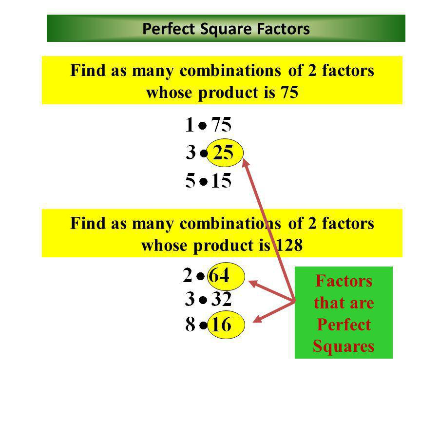 Perfect Square Factors