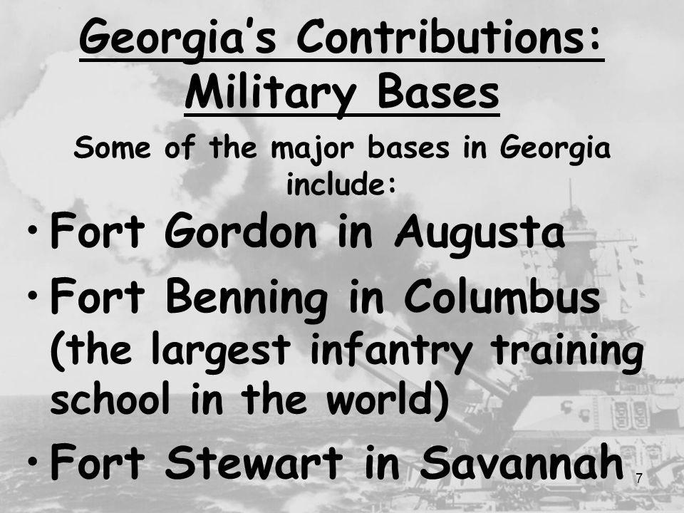 Georgias contributions during world war ii ppt video online download georgias contributions military bases publicscrutiny Gallery