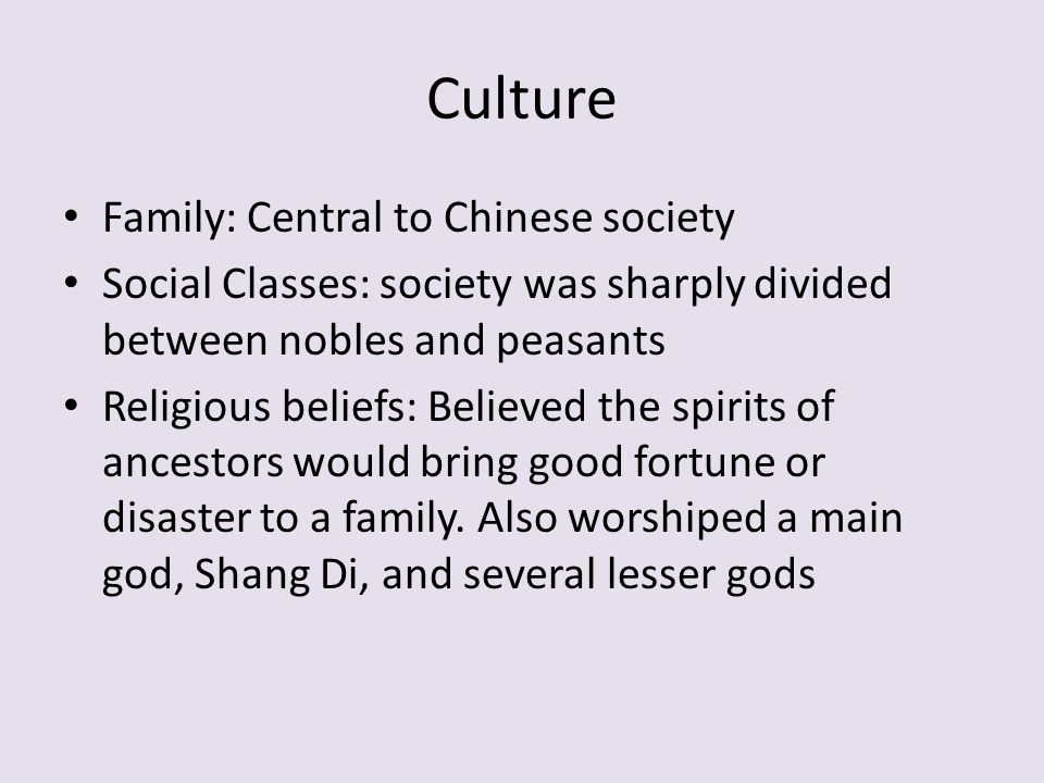 Culture Family: Central to Chinese society