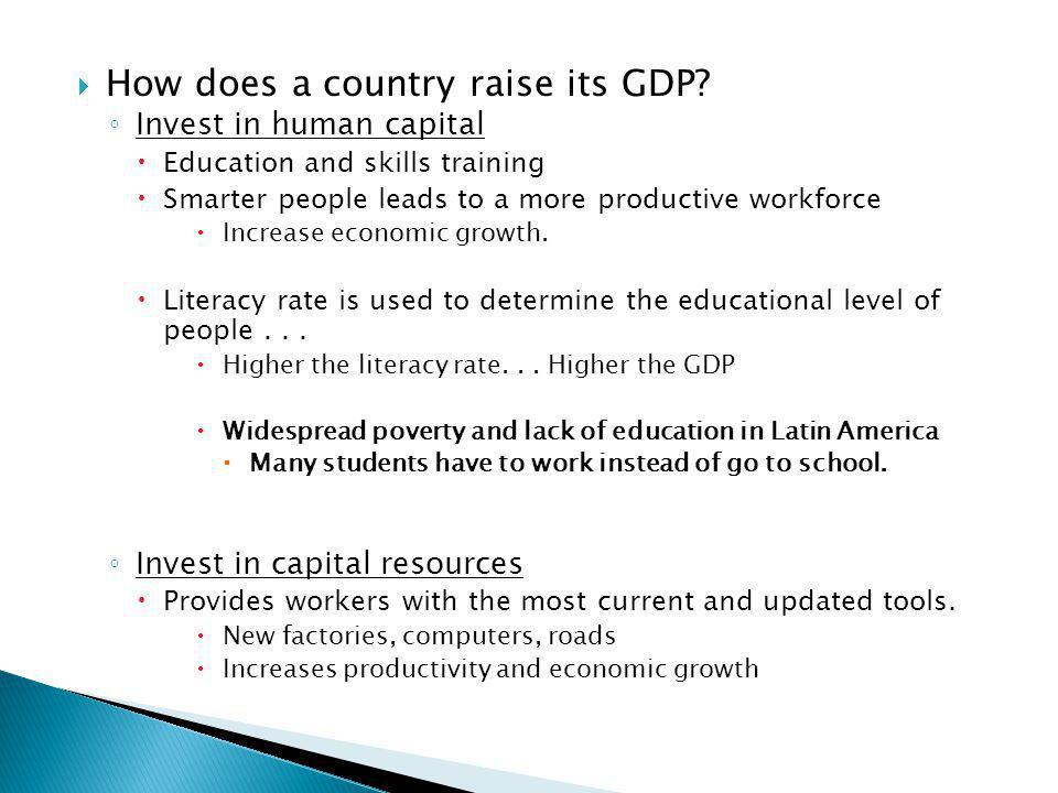 How does a country raise its GDP