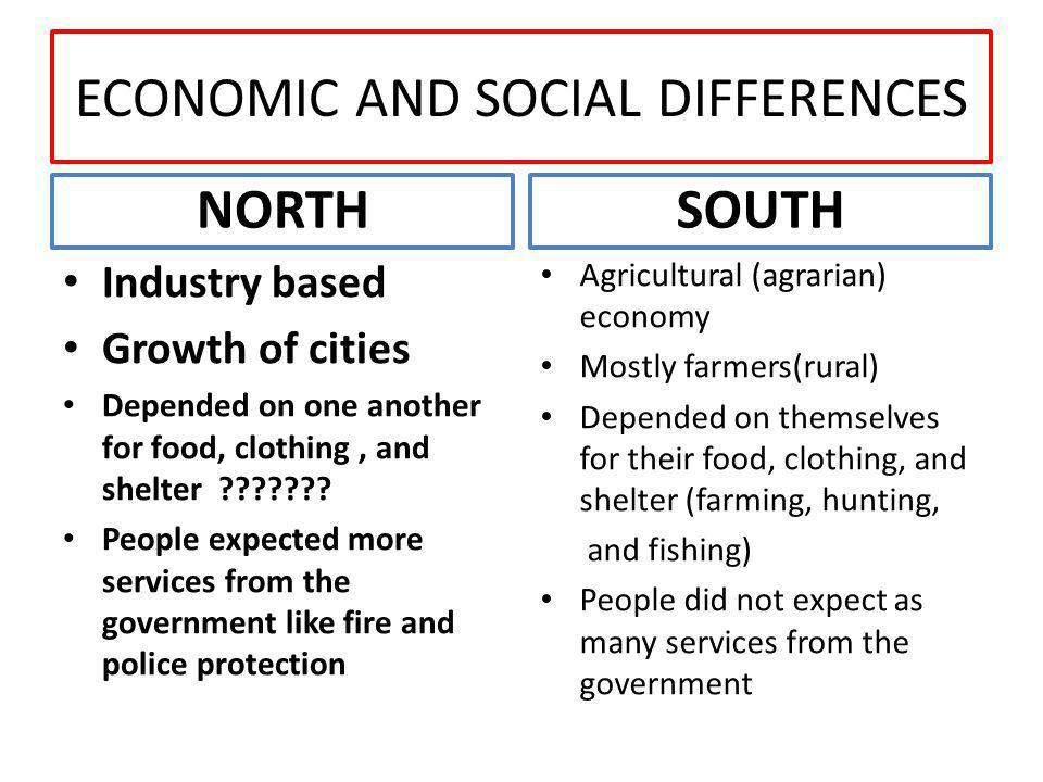 political differences between north and south