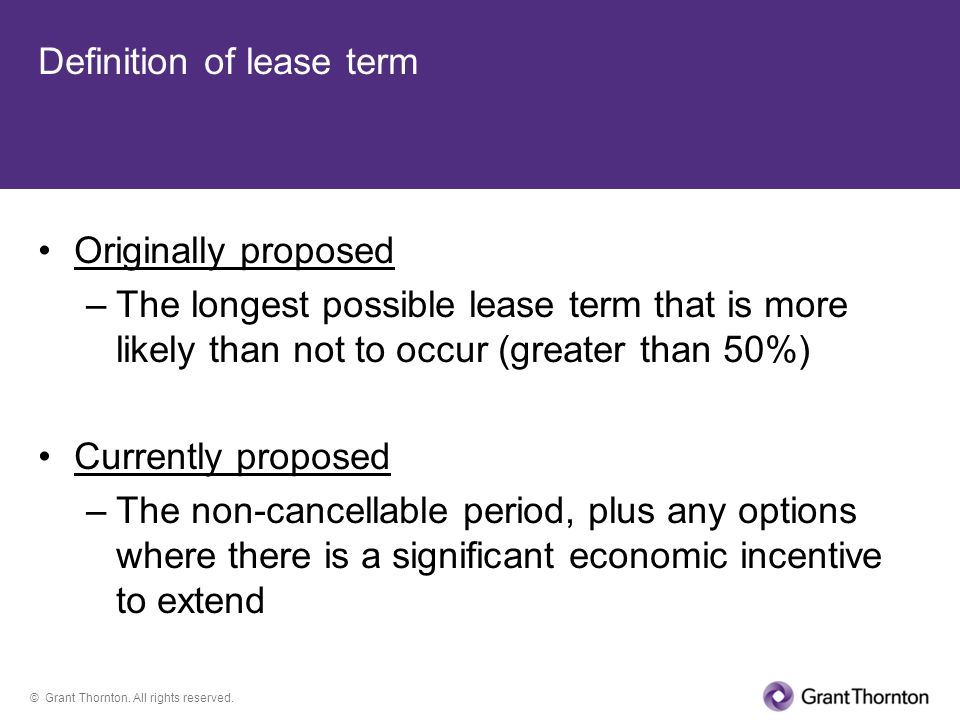 Definition of lease term