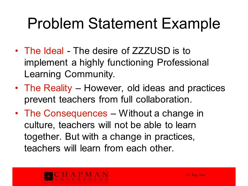 Problem Statement Example