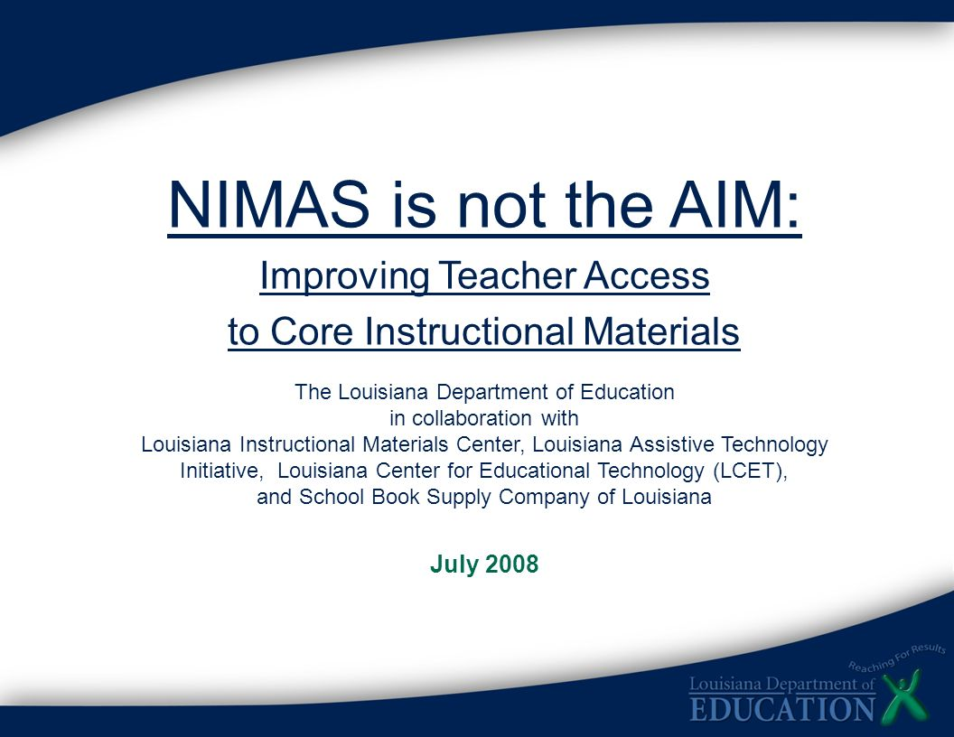 NIMAS is not the AIM: Improving Teacher Access