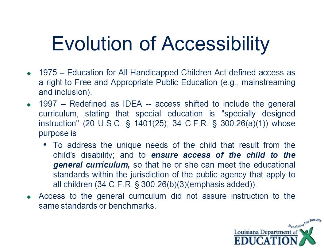 Evolution of Accessibility