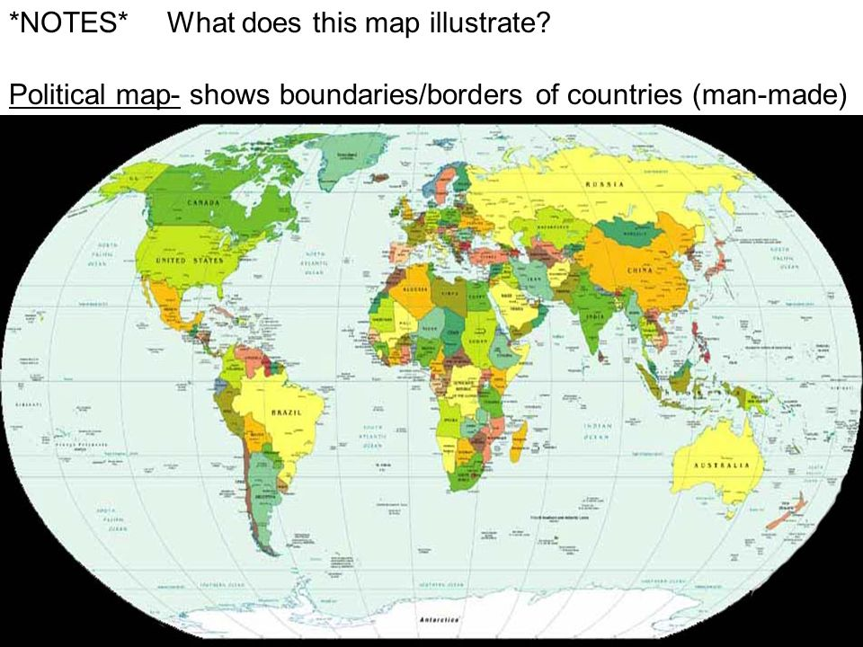 *NOTES* What does this map illustrate.