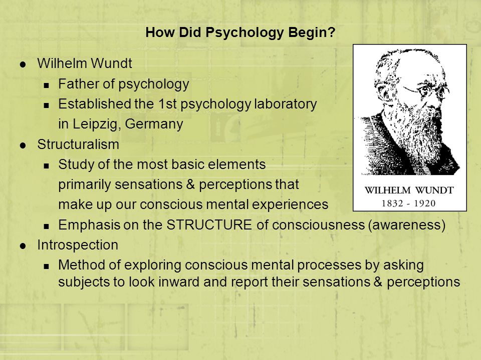 How Did Psychology Begin