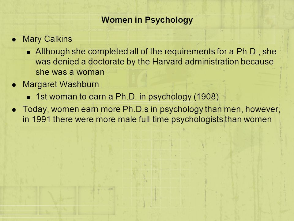 Women in Psychology Mary Calkins.