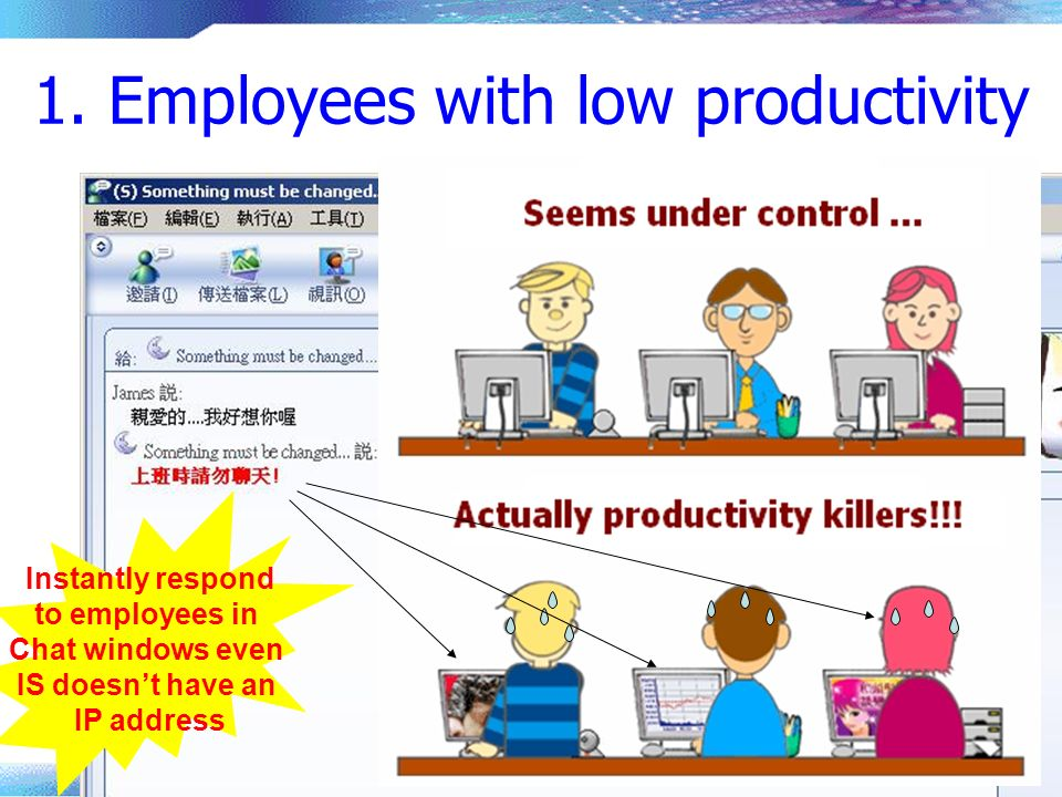 1. Employees with low productivity