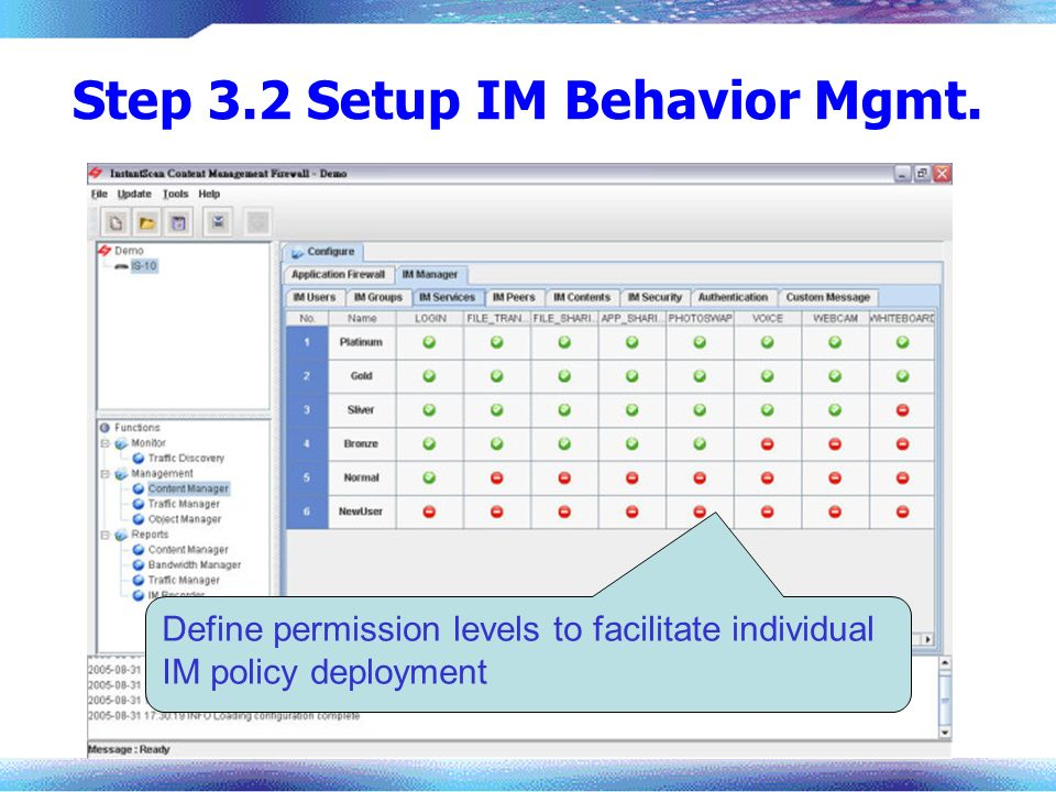 Step 3.2 Setup IM Behavior Mgmt.