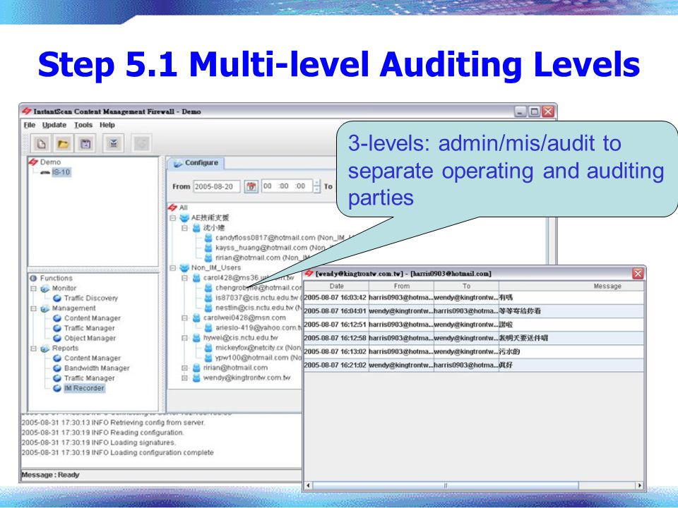 Step 5.1 Multi-level Auditing Levels
