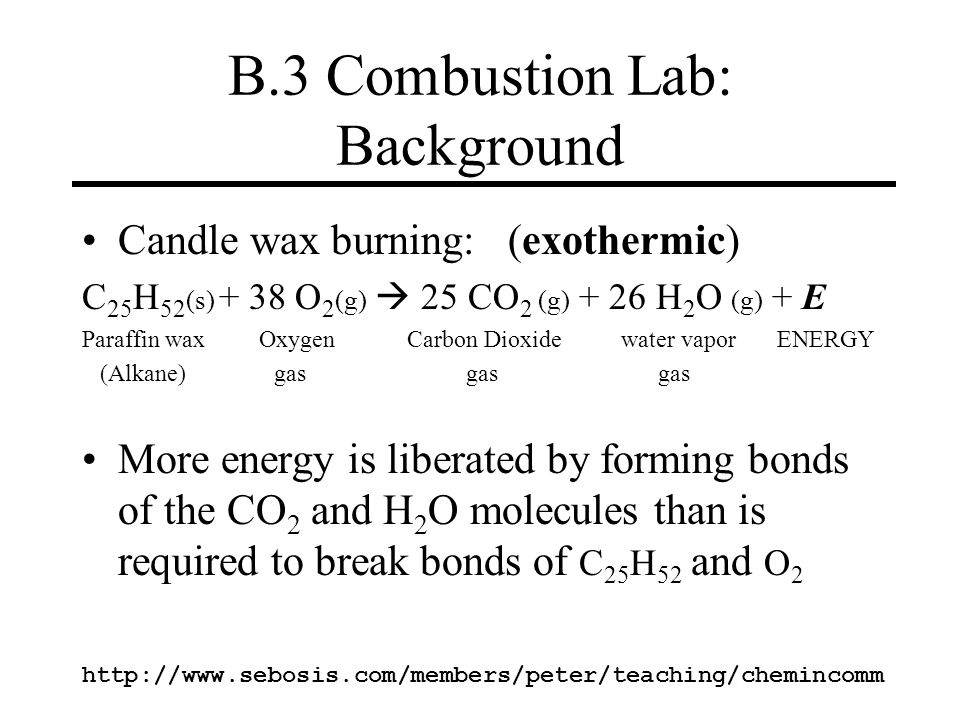 B.3 Combustion Lab: Background