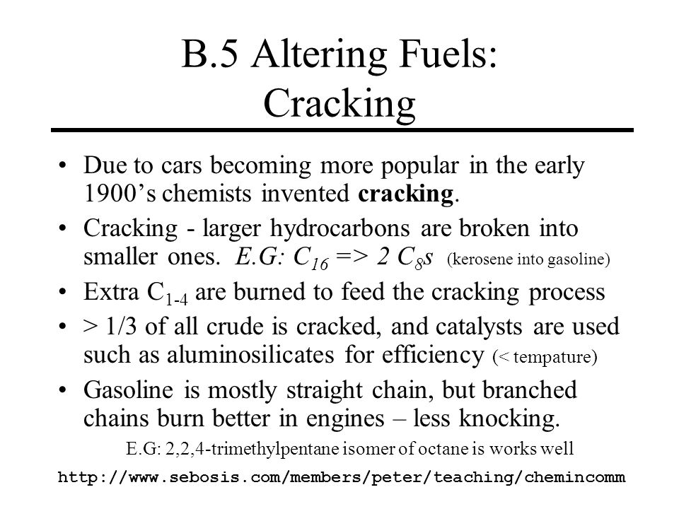 B.5 Altering Fuels: Cracking