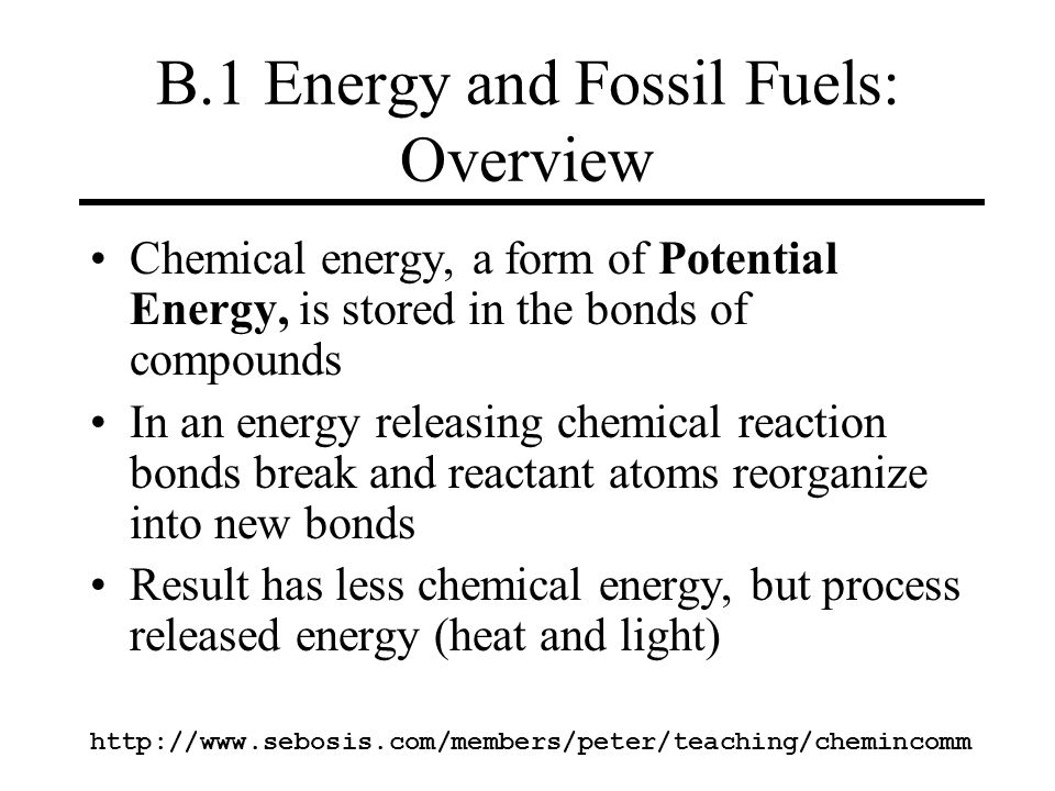 B.1 Energy and Fossil Fuels: Overview