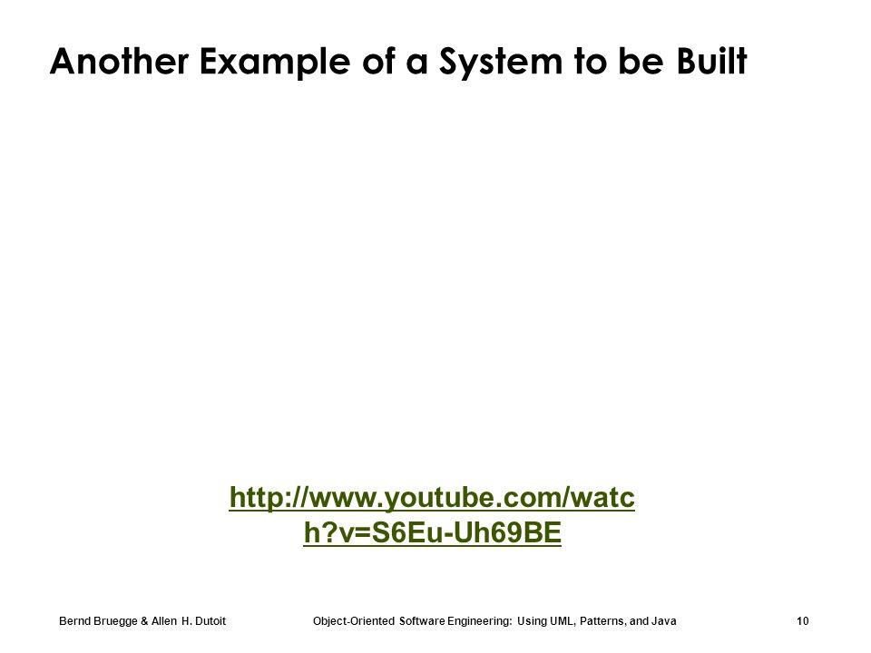 Another Example of a System to be Built