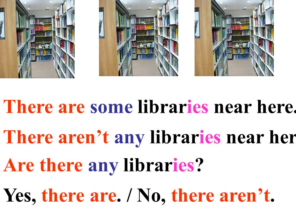 There are some libraries near here.