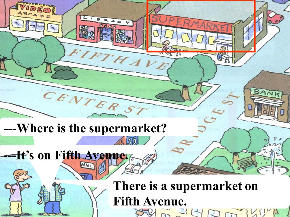 ---Where is the supermarket