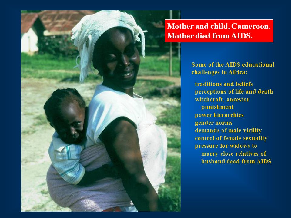 Mother and child, Cameroon. Mother died from AIDS.