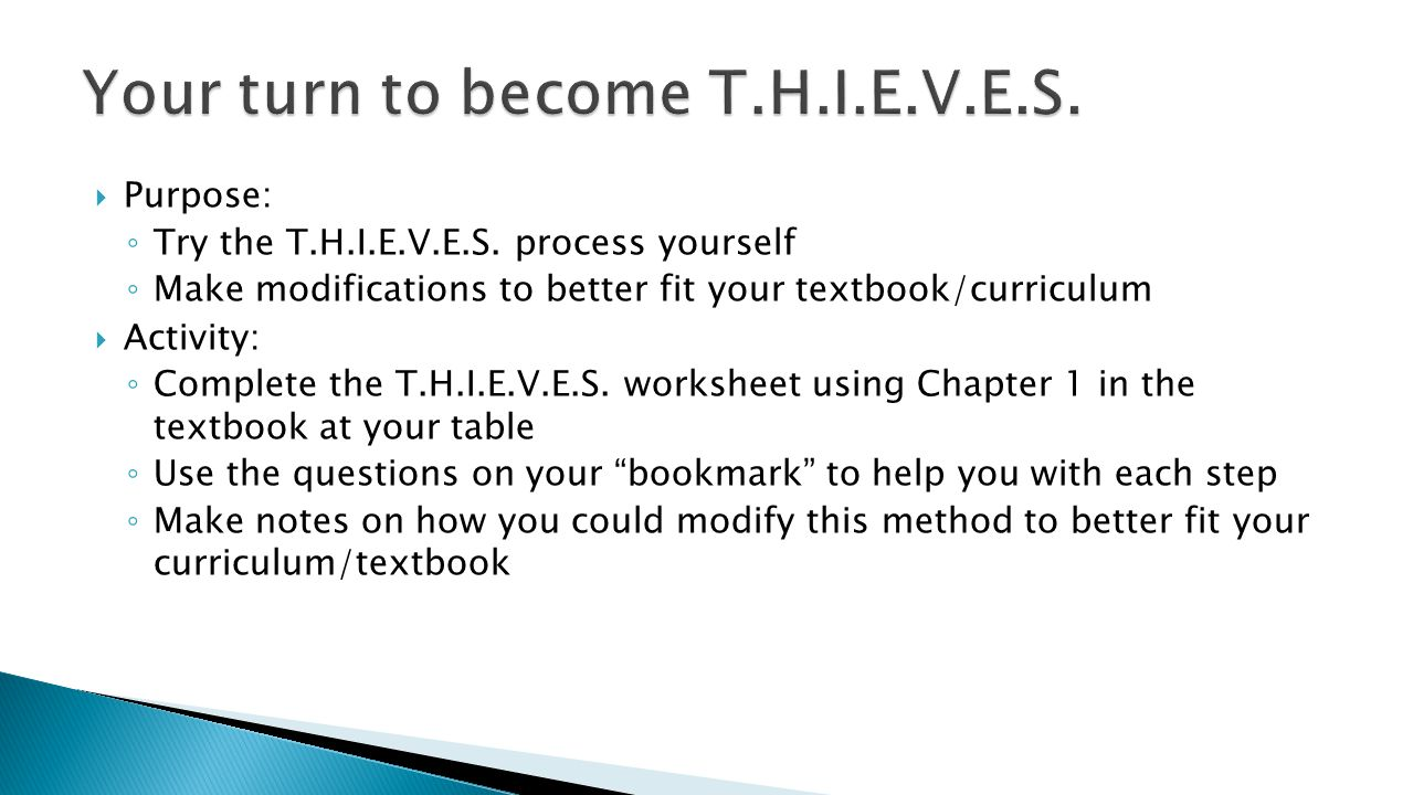 Your turn to become T.H.I.E.V.E.S.