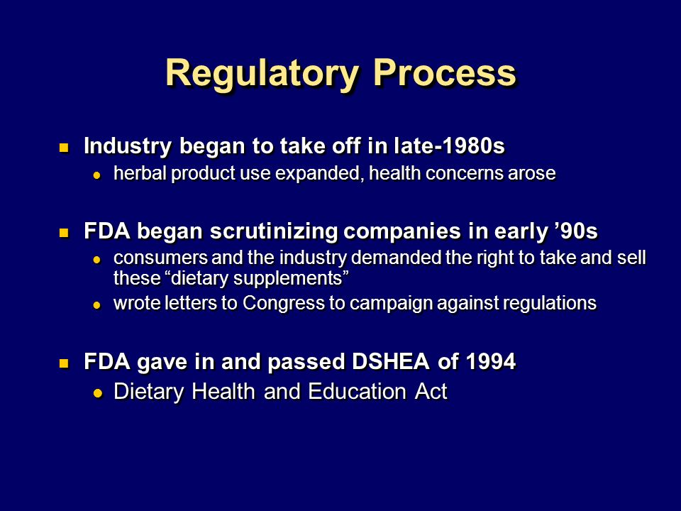 Regulatory Process Industry began to take off in late-1980s