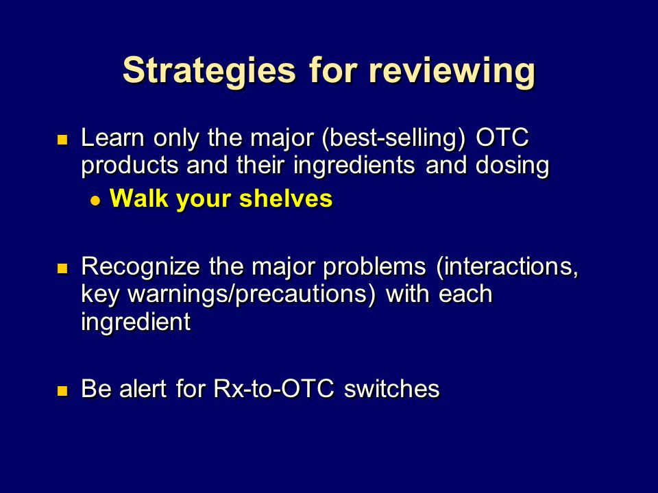 Strategies for reviewing