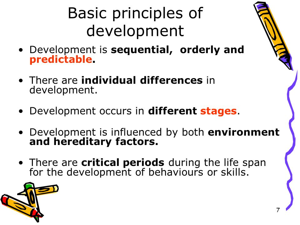 Basic principles of development