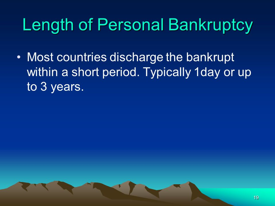 Length of Personal Bankruptcy
