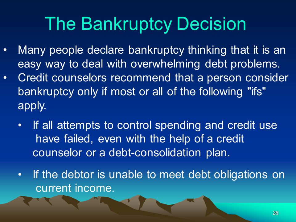 The Bankruptcy Decision