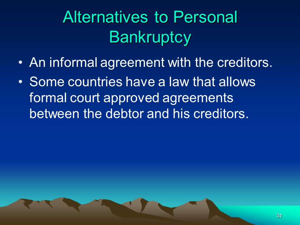 Alternatives to Personal Bankruptcy