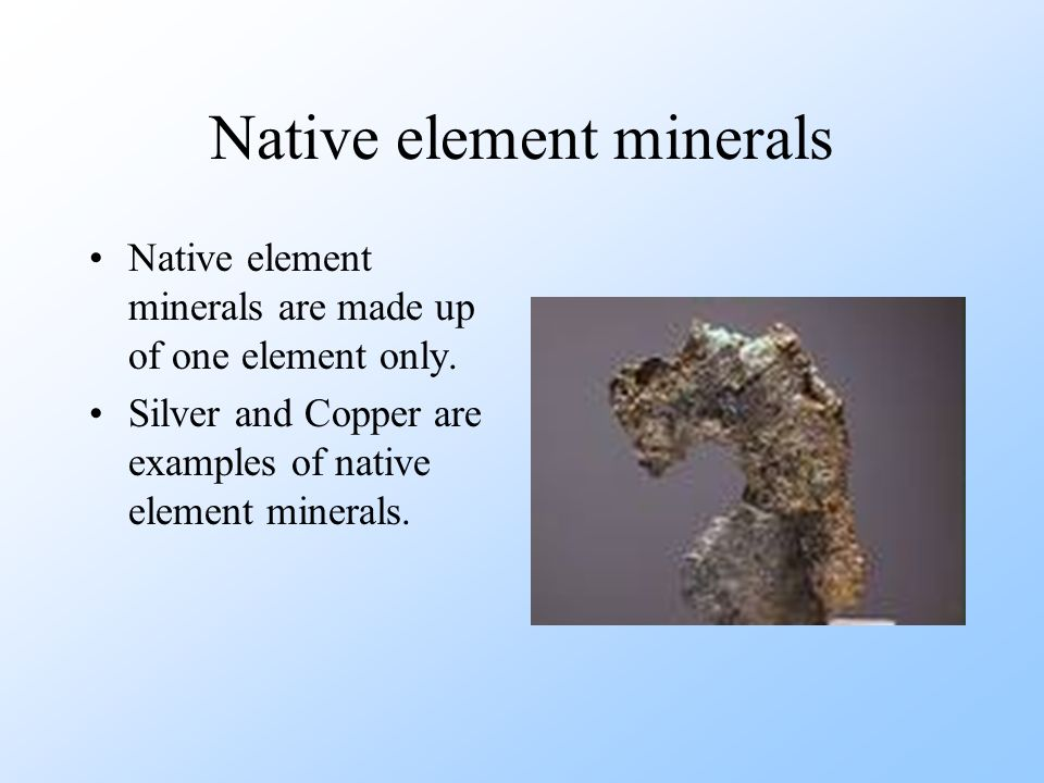Native element minerals