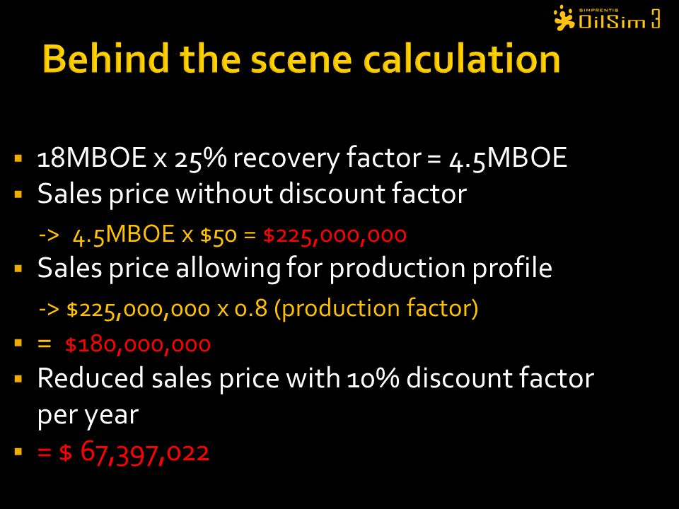 Behind the scene calculation