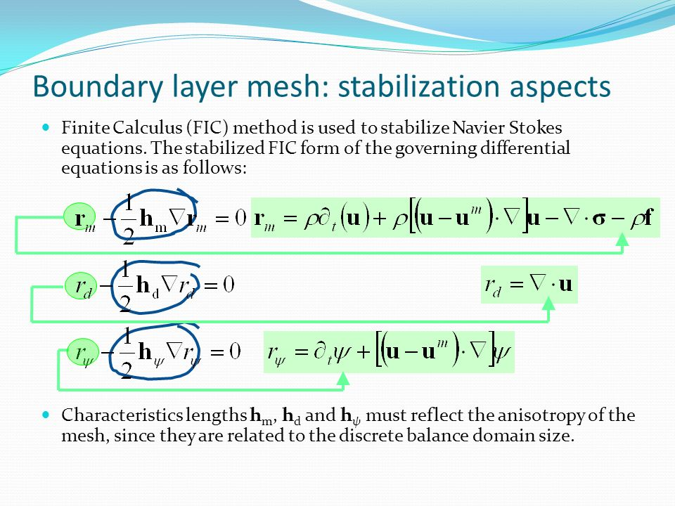 Boundary layer mesh: stabilization aspects