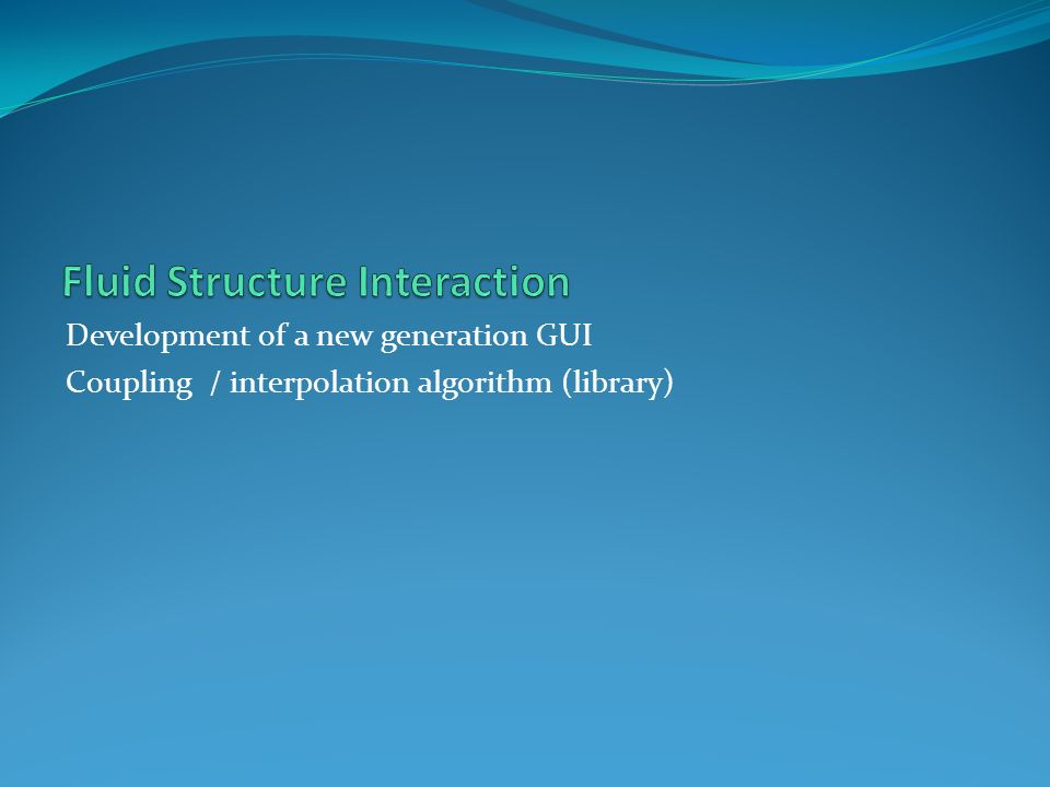 Fluid Structure Interaction