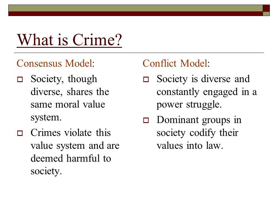 consensus model criminal justice