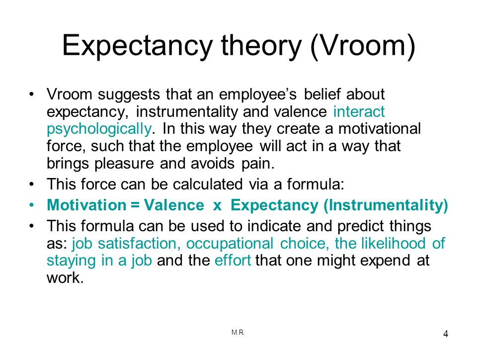 define expectancy theory