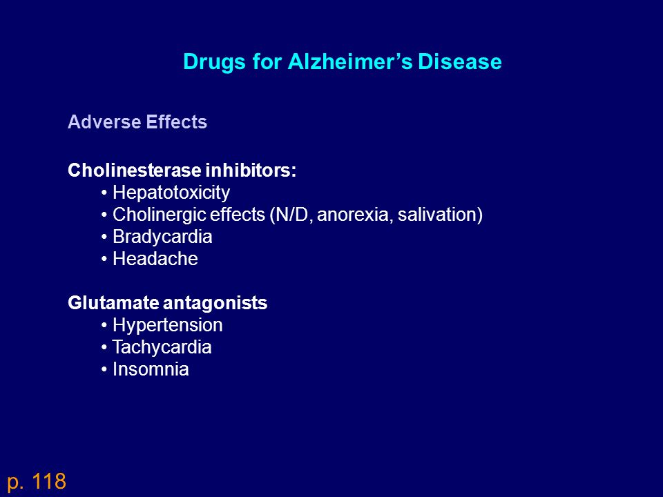 Drugs for Alzheimer's Disease